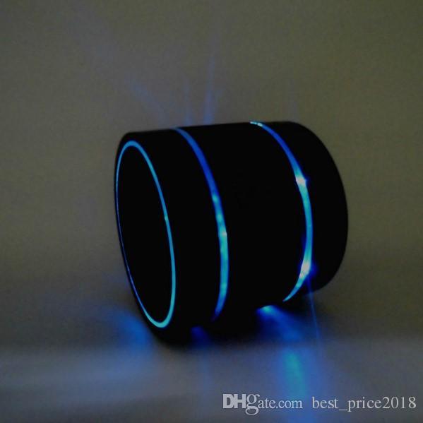 Free DHL Newest Prodduct LED Speaker S09 Enhanced Speaker 3 LED Light Ring Super Bass Metal Mini Portable Beat Hi-Fi Bluetooth Handfree