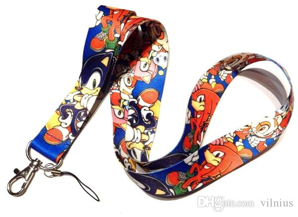 Cartoon Game SONIC THE HEDGEHOG Neck Lanyard Multicolor Phone Accessories Cell Phone Camera Neck Straps Lanyard Gifts
