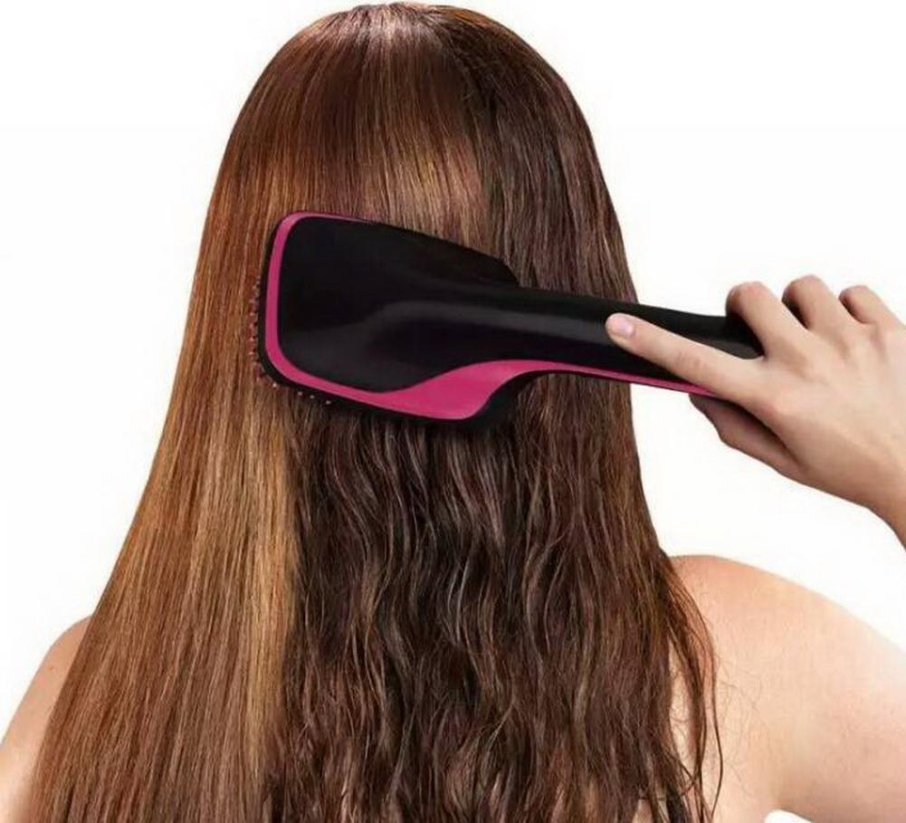 Fashion multi-function one-step hair dryer and styler/ dry hair wet dual-use hot air comb/hair comb