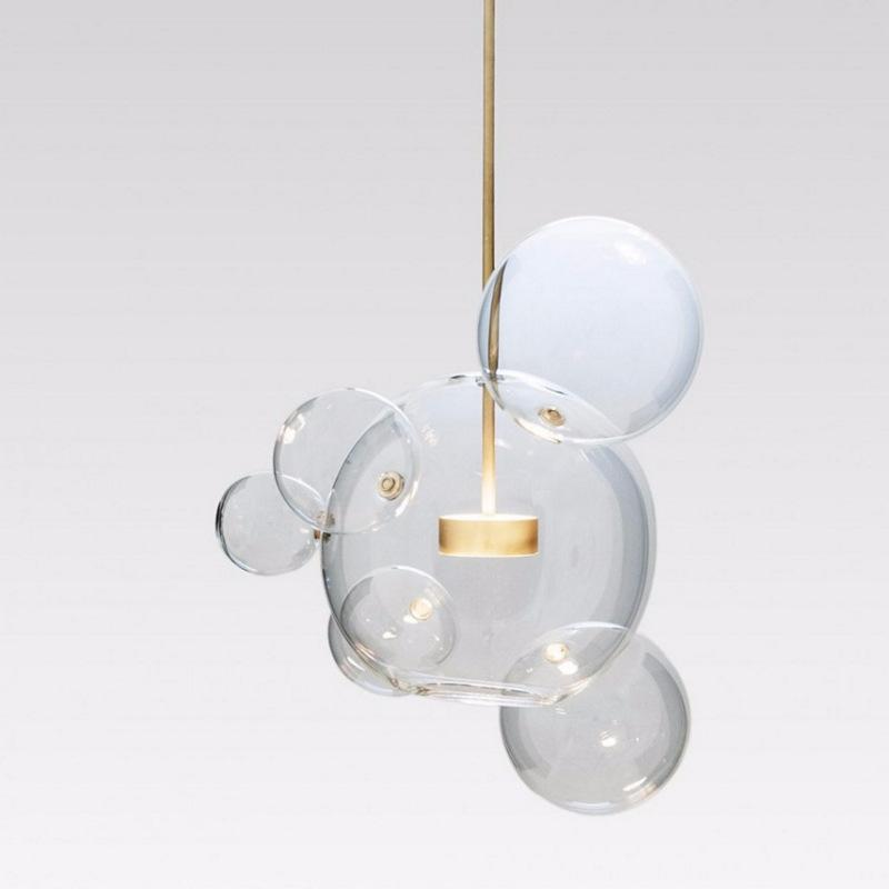 Modern clear glass bubble ball led pendant light fixtures bolle lamp modern clear glass bubble ball led pendant light fixtures bolle lamp globe pendant lamp lighting lustre luminaire hanging lamp lights hanging light hanging aloadofball Choice Image