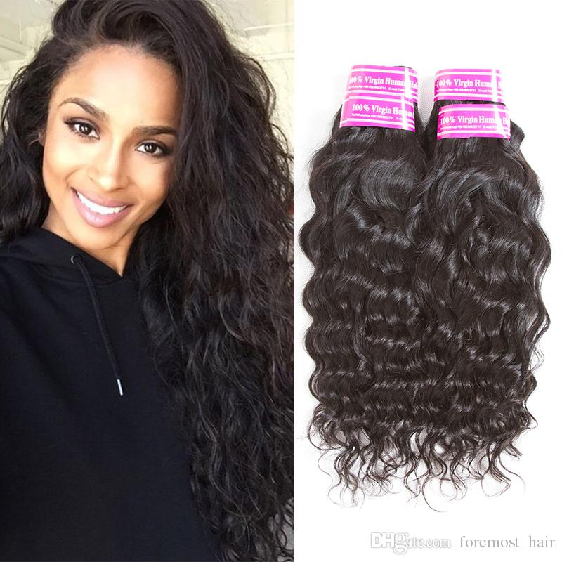 Water Wave Brazilian Hair Extension Big Curly 100% Unprocessed Virgin Human  Hair Weave Bundles Natural Wave Water Wave Natural Color Bundles Best Weave  Best ... c43bd7168c3b