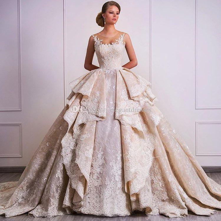 The Knot Wedding Gowns: Discount 2018 New Design Ball Gown Wedding Dresses With