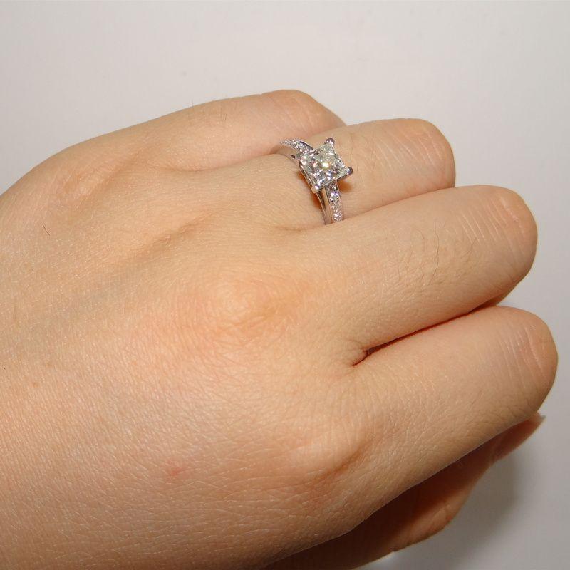 Купить Оптом ZNM Jewelry Peacock Star Твердый 925 Серебристый Свадебный  Обручальное Кольцо 0,7 Ct Princess Cut Созданные Ювелирные Изделия Из  Бриллиантов ... 248929608f7