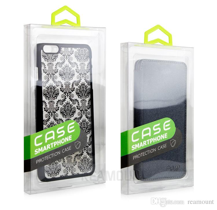 universal retail packaging package box for iphone 7 7 Plus mobile phone case crystal clear PVC package box