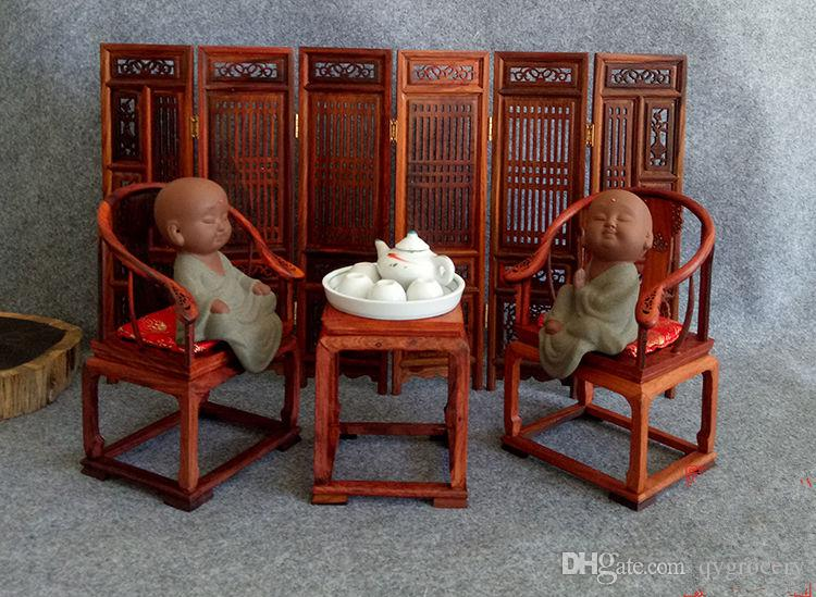Redwood Screen Chair Chinese Antique Mini-home-furnishings