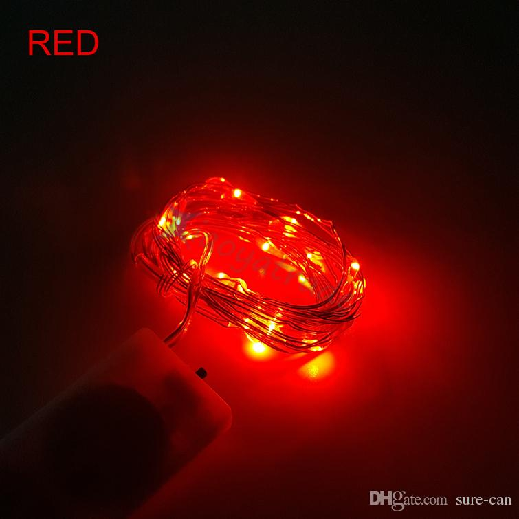 cheap CR2032 battery operated 2M 20LEDS micro led fairy string light Copper Wire led string chandelier fairy holiday light decorations
