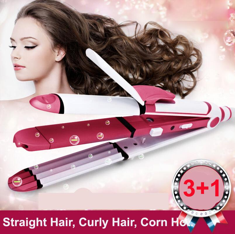 2016 Professional 3 In 1 Fast Bun Hair Curler Care Dryer Roller Tourmaline Ceramic Hair Straightener Curling Iron Styling Tools