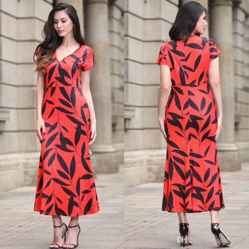 Women Printed Summer Dresses 2017 Fashion V-Neck Sleeveless Beach Girls Dress Vintage Large Swing Women Dresses