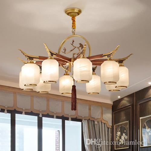 High end luxury new modern chinese american style copper chandelier high end luxury new modern chinese american style copper chandelier unique special led pendant light for hotel villa home decoration drum shade chandelier aloadofball Choice Image