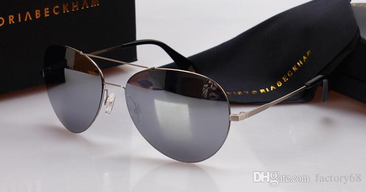 Nuevas gafas de sol VB Victoria Beckham gafas de sol formas de gafas de sol elipse box gafas de sol hombres y mujeres gafas de sol color película oculos marca
