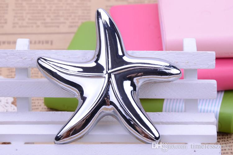 Beach Theme Starfish Design Beer Bottle Opener Luxury Wedding Favors New Bridal Shower Gift Box Packing