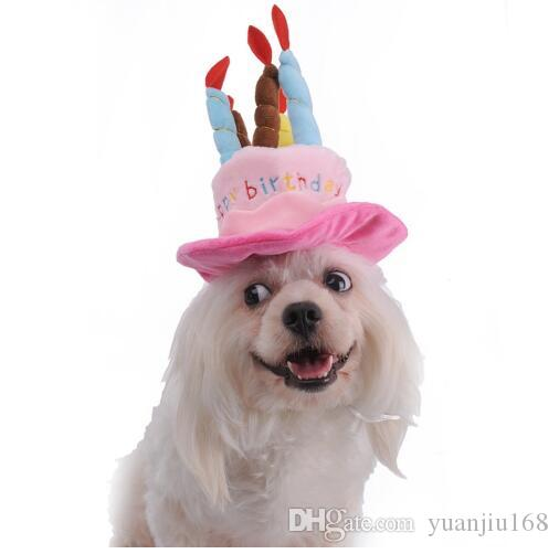 2019 Caps For Dogs Pet Cat Dog Birthday Hat With Cake Candles Design Party Costume Headwear Accessory Goods G847 From Yuanjiu168