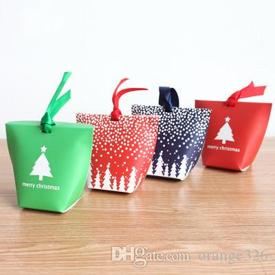 cute candy box paper box christmas candy boxes party favors diy cookiecandy bag or biscuits snack baking package supplies house decorations for christmas - Christmas Candy Boxes