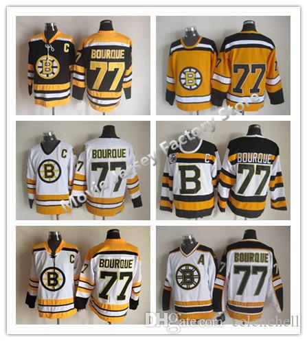 fdbfb1362 ... 2017 Cheap Throwback Boston Bruins Ray Bourque Hockey Jerseys 75th  Anniversary Black Vintage Ccm 77 Ray ...