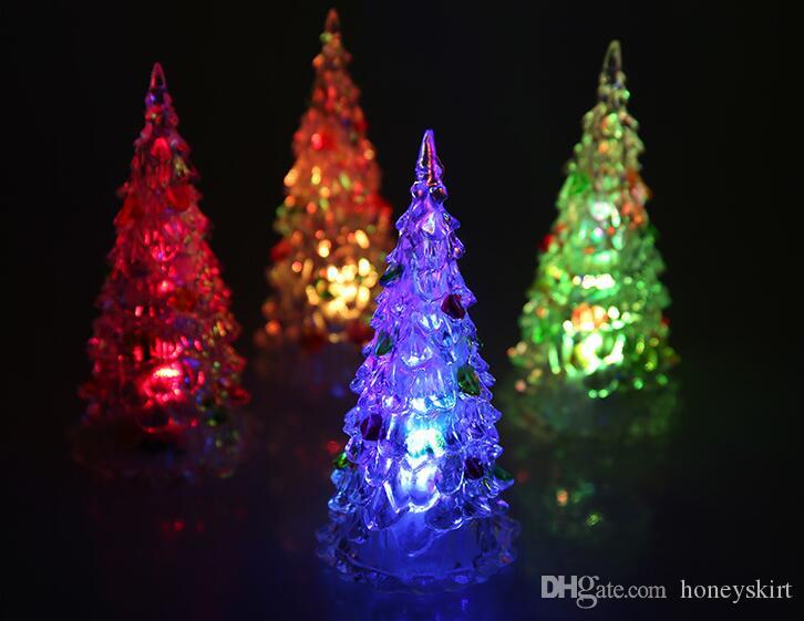 acrylic artificial flocking christmas treejpg - Led Multicolor Christmas Lights