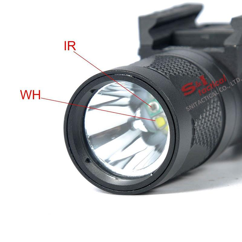 NUEVO SF X300V-IR linterna táctica pistola luz LED blanco y salida IR ajuste 20 mm Picatinny carril negro