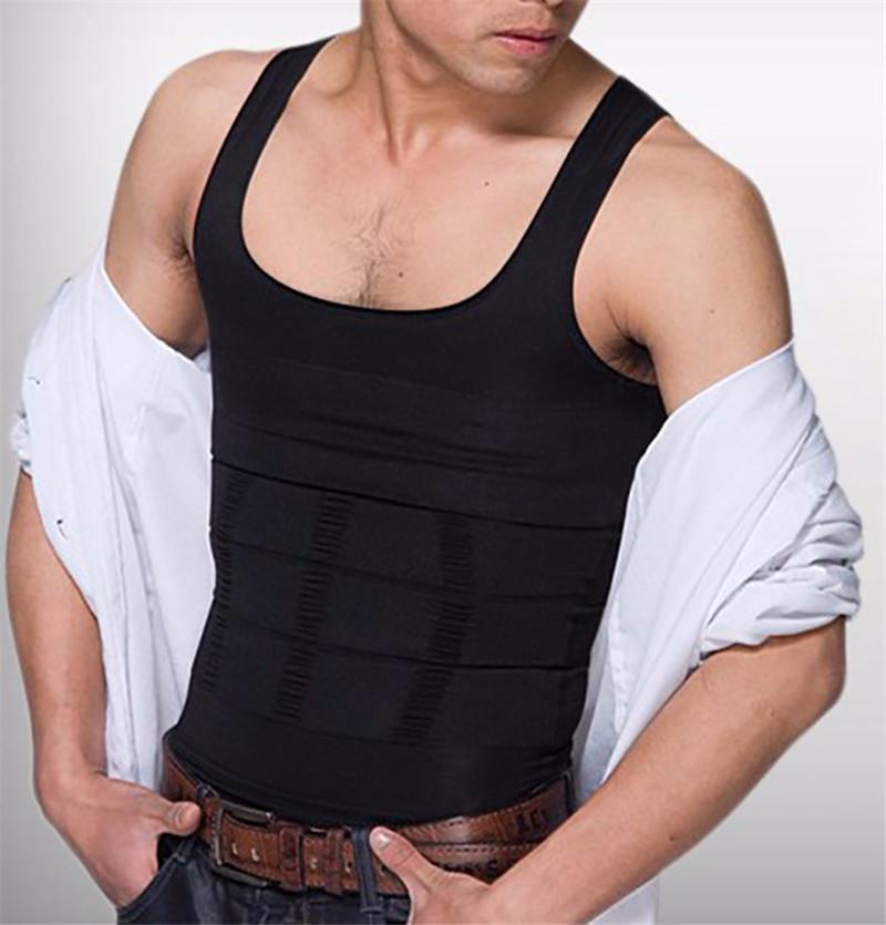 Hommes Corps Shapers Sculpting Gilet Lift Perte De Poids Shirt Compression Muscle Tank Shapewear Sous-Vêtements Pour Hommes Forme Sexy