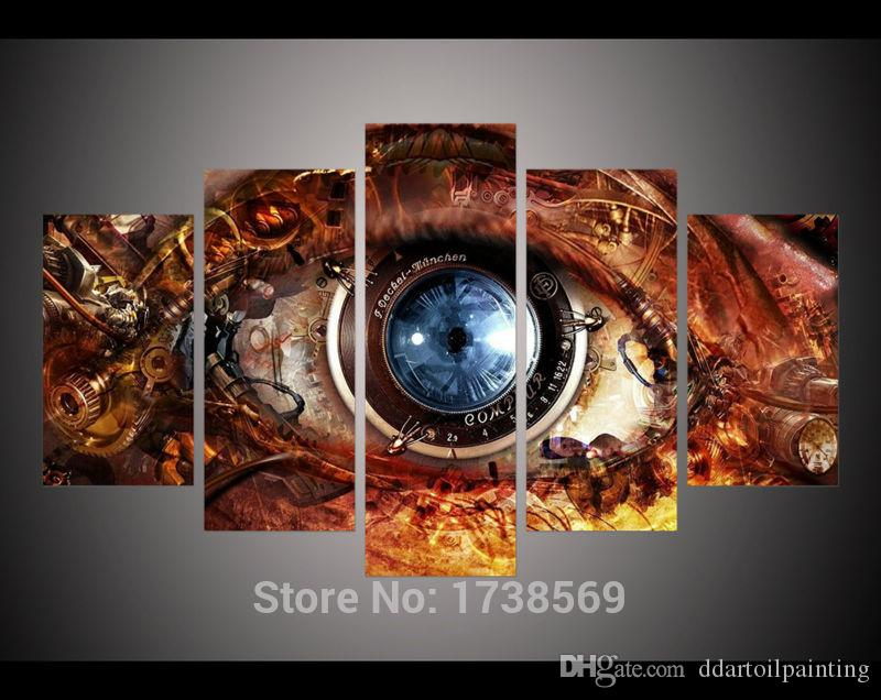 2017 5 Panel Modern Home Decoration Wall Art Picture For Living Room  Steampunk Abstract Eyes Poster Canvas Print Painting On Canvas From  Ddartoilpainting, ... Part 59