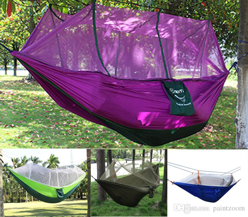 2017 Outdoor Portable Camping Mosquito Net Sleeping Hammock High Strength  Parachute Fabric Double Hanging Bed From Paintzoom, $10.36 | Dhgate.Com