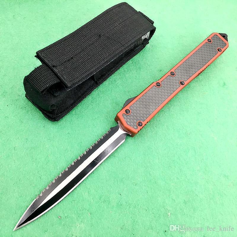 Makora الثاني 106-1 النمل الثاني ألياف الكربون مقبض مزدوجة حافة الحافة الطي سكين جيب بقاء سكين هدية عيد benchmd 1 قطع