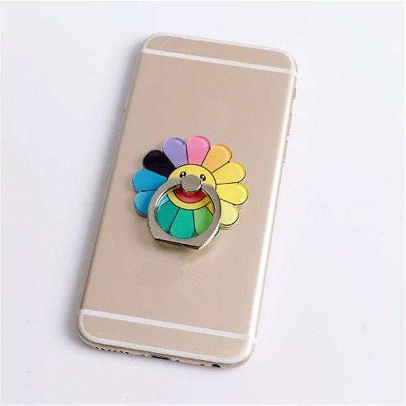 حامل رنين الهاتف العالمي 8 ألوان زهرة حلقة الهاتف حامل الهاتف المحمول الدائري حامل الهاتف الذكي الدعامات ZPG223A