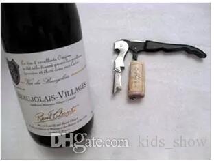 Kellner Wein Werkzeug Flaschenöffner Seepferdchen Korkenzieher Messer Pulltap Doppelklapp Korkenzieher Wein Opener Flaschenöffner Versand frei