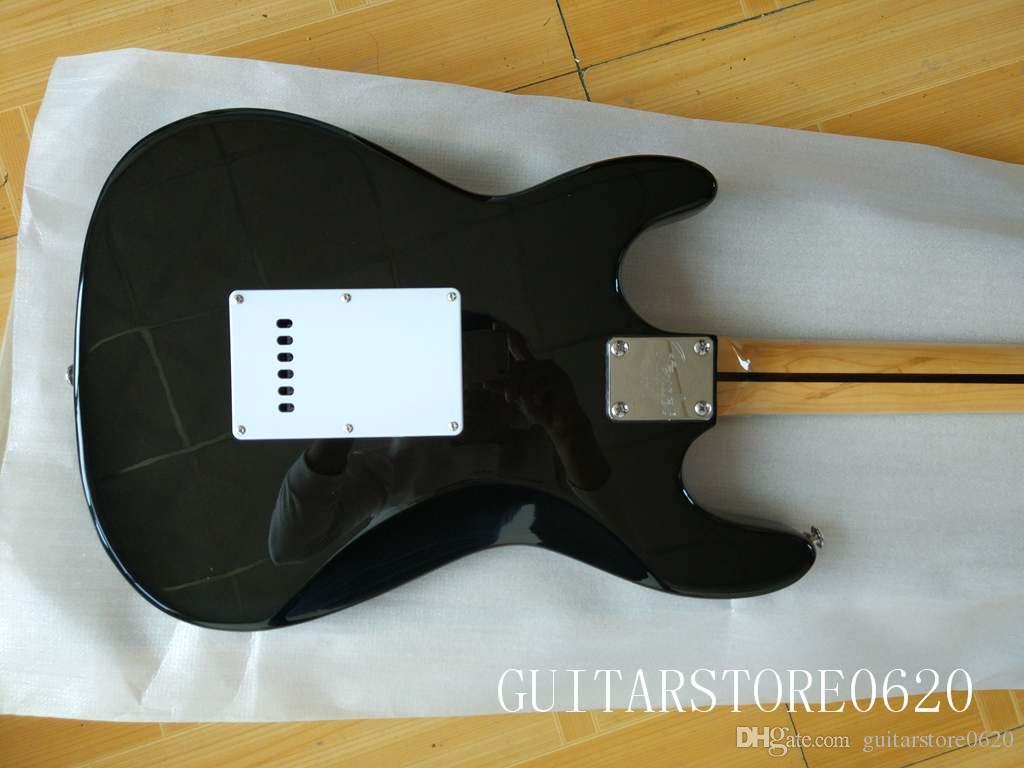 Черная специальная электрическая гитара клен гриф бесплатная доставка