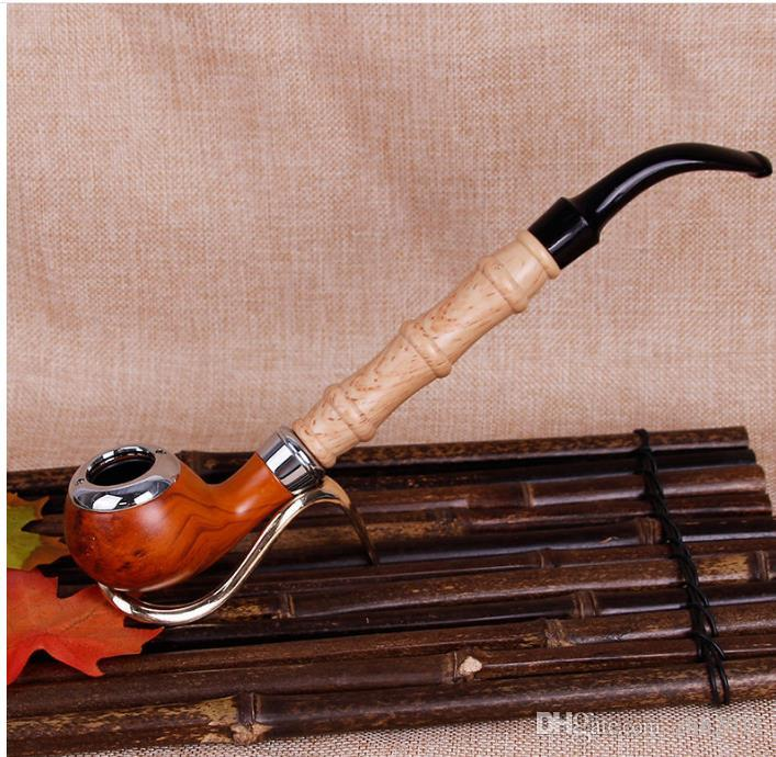 The New Resin Pipe Imitation Wood Filter Pole Rod Tobacco Straw Filter Bakelite Pipe