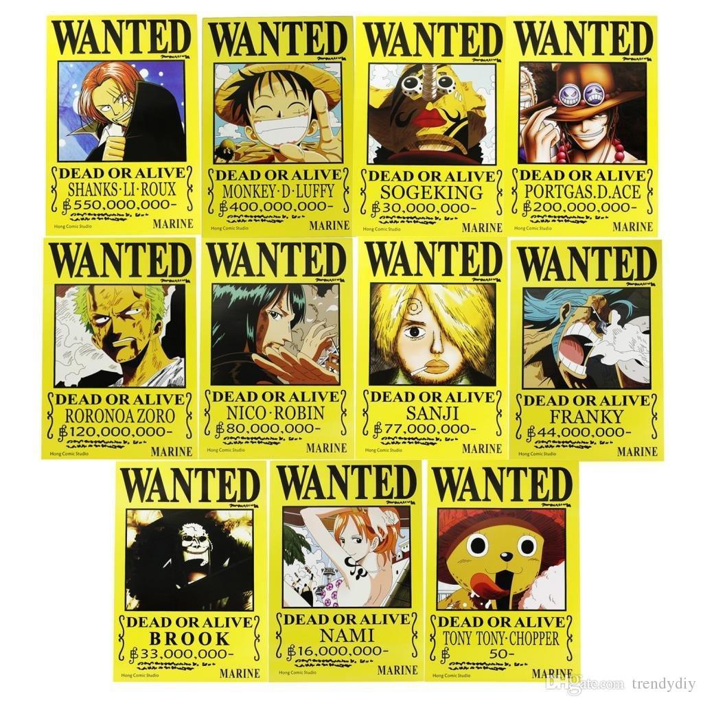Grosshandel Anime One Piece Piraten Gesucht Poster Op Set Home Decor Kunstdruck 16 11 Von Trendydiy 302 Auf DeDhgateCom