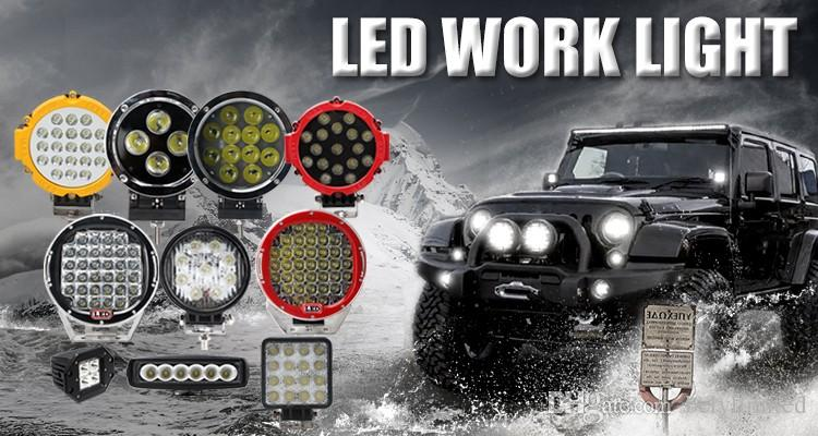7 inch 60w led work light,led spotlight for car,12v led car spotlight for tractor UTV