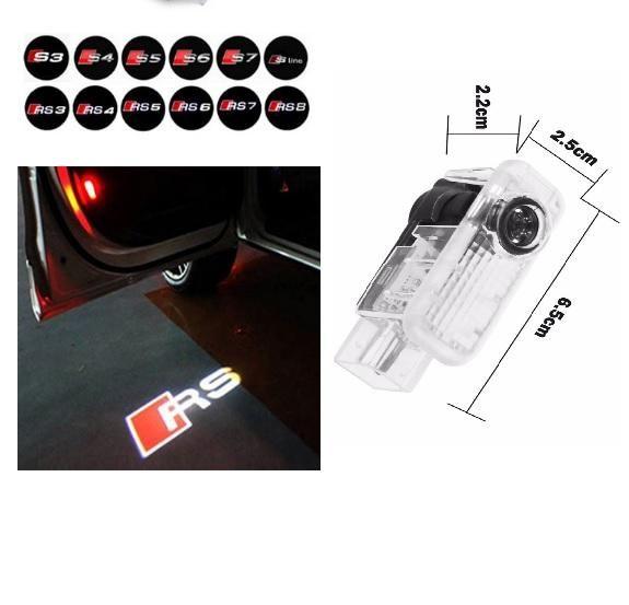 Luz de proyección del logotipo de la puerta del coche LED para AUDI a3 a4 b6 a6 c7 c5 q7 q5 a5 80 b7 b8 tt b8 RS4 RS5 RS6 S4 S5 S6 S7 RS Sline quattro