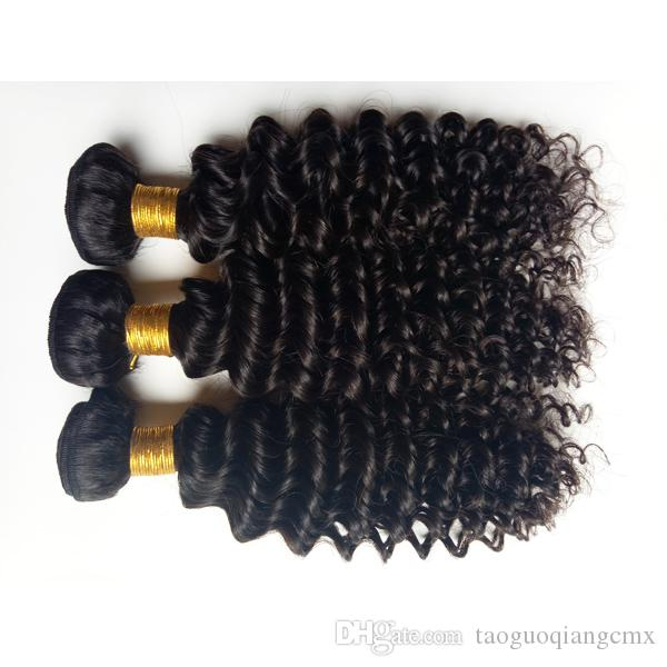 Unprocessed Brazilian virgin human hair weft beauty kinky curl hair extensions for African American hair 3 4 5picsdouble weft DHgate