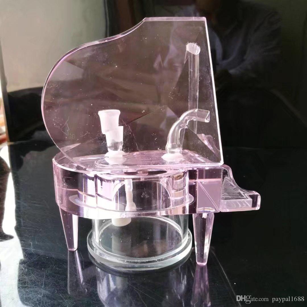 Accessori bong in vetro di cristallo pianoforte, tubi il fumo in vetro colorato mini tubi multi-colori tubi a mano Best Spoon Glass Pipe