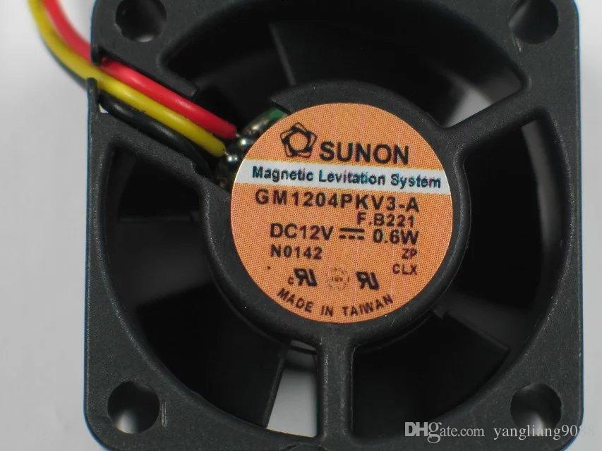 Frete Grátis Para SUNON GM1204PKV3-A DC 12 V 0.6 W 3-fio conector de 4 pinos 60mm 40x40x20mm Servidor de Refrigeração Quadrado ventilador