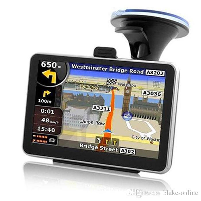 5 pulgadas / 4,3 pulgadas Navegación GPS para automóviles Multilingüe Navegador para camiones 800 MHZ 8GB IGO Primo 3D Maps Bluetooth FM AVIN Funciones