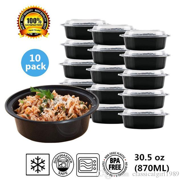 2018 Round Plastic Food Storage Container With Lid,Bento Box,Meal  Preparation Container/Microwaveu0026Dishwasher Safe,30.5ounce,10 Pack From  Classicalgirl1989, ...