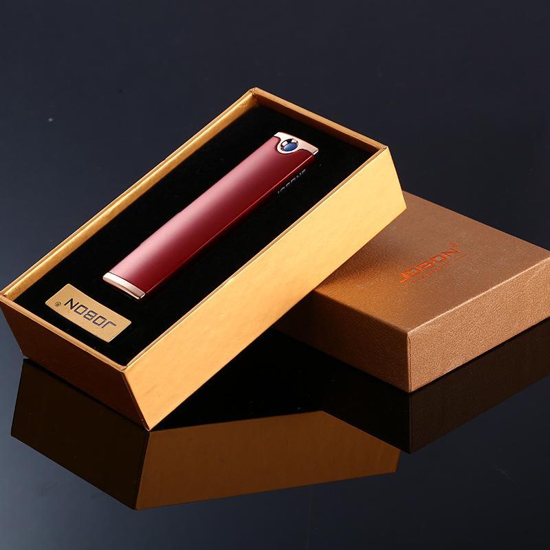 새로운 핫온 Jobon 전선 변경 가능한 긴 스트립, 슬림 한 양면 시가 라이터, 금속 USB 방풍 라이터를 충전