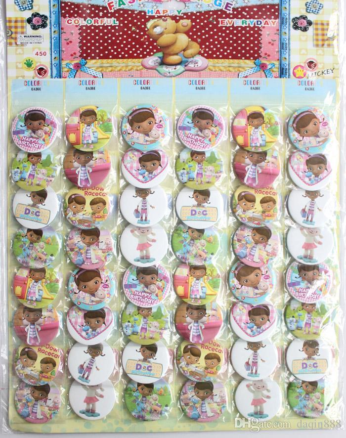 Heißer Großhandelsverkauf insgesamt 480 Cartoon 4.5cm Abzeichen vorzüglicher Art und Weisebeutel verziert Kindgeschenk freies Verschiffen 277