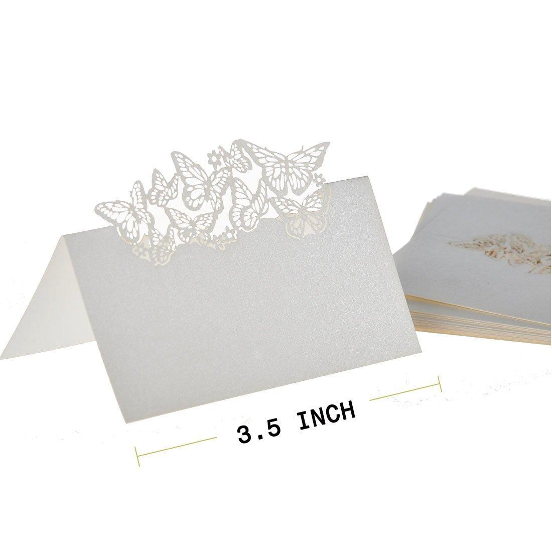 Wholesale 50 butterflies laser cut name place wedding guest table 32 kristyandbryce Choice Image