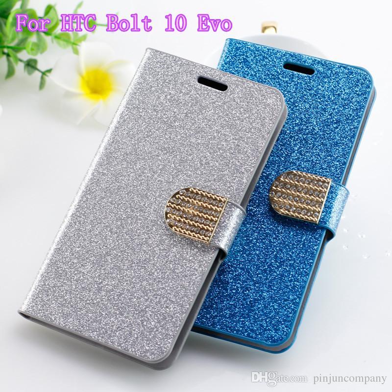 sale retailer 7e671 efcba For LG LV7 LV9 Wallet case Glitter Bling For LG X Power2 ZTE V8 PRO Flip PU  Leather Diamond Rhinestone
