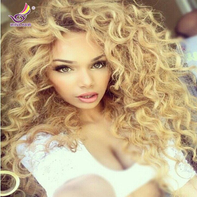 Modische unverarbeitetes Menschenhaar tiefe Welle lockige Doppelmaschine Schuss jungfräuliche peruanische brasilianische blonde Bündel 613 locken das Haar