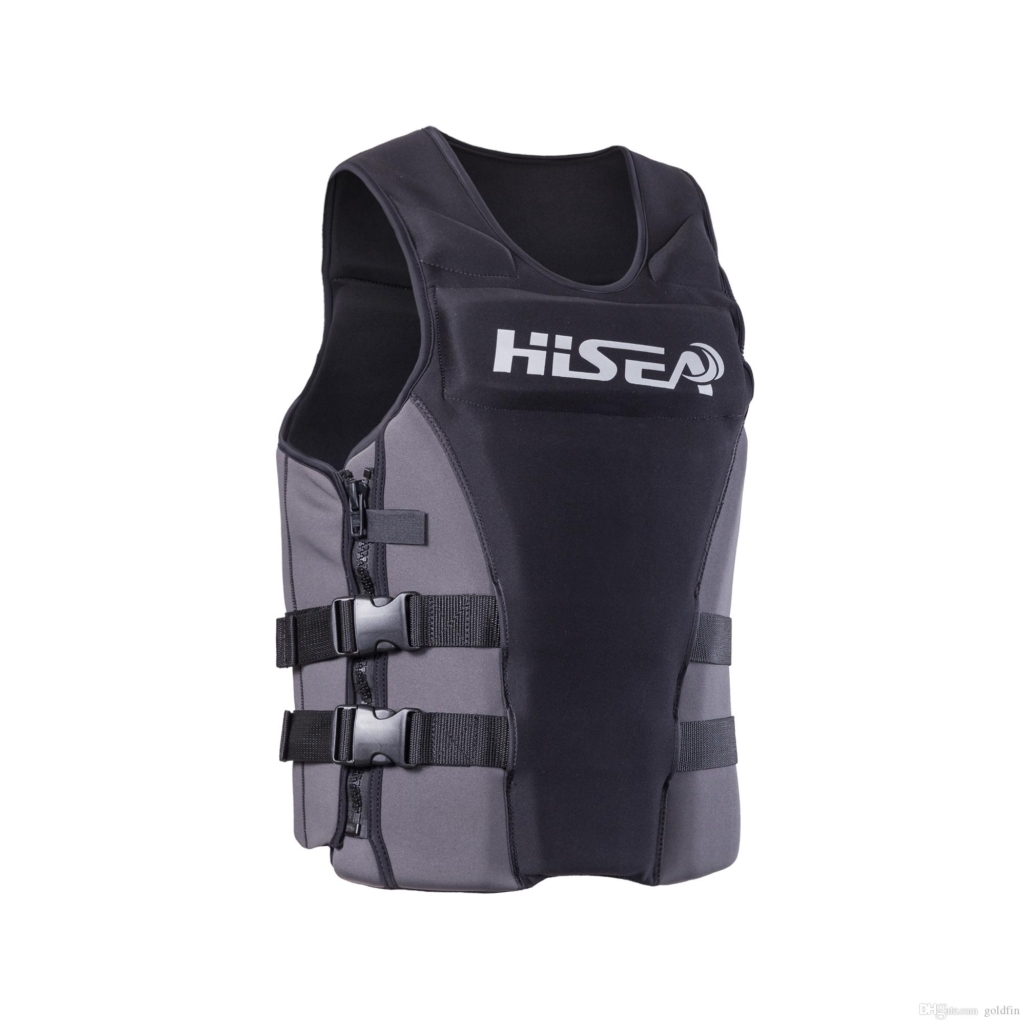 2019 HISEA L002 Good Quality Boys And Mens Neoprene Life Jacket Surfing  Life Vest Buoyancy Floating Drifting Fishing Vest Impack From Goldfin 6e87f4ae2