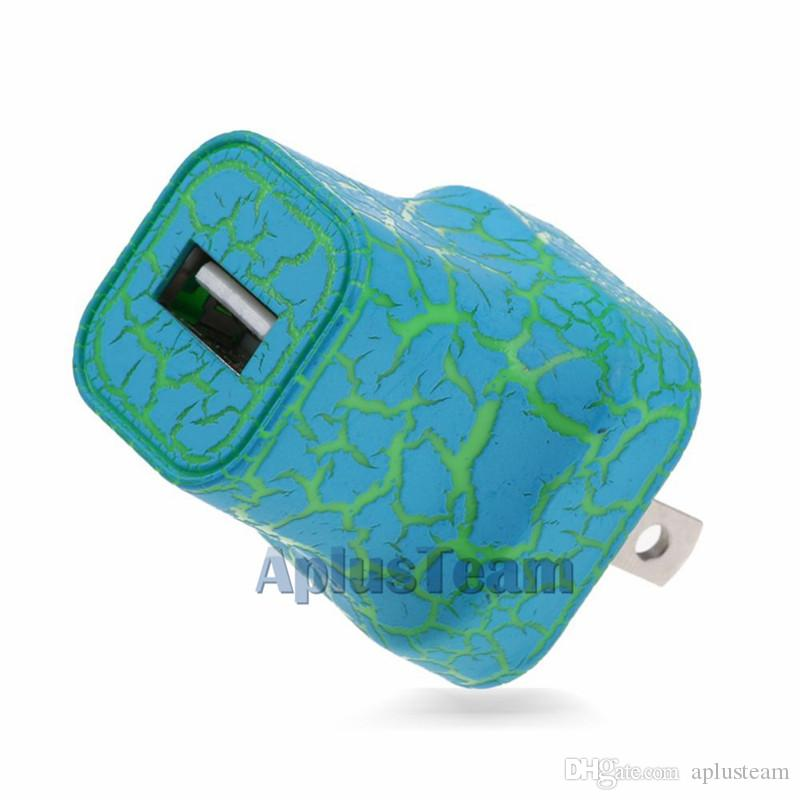 Led beleuchtung riss stil reise home ladegerät 5 v 1a netzteil us eu stecker einzigen usb schnellladung universal für iphone htc samsung