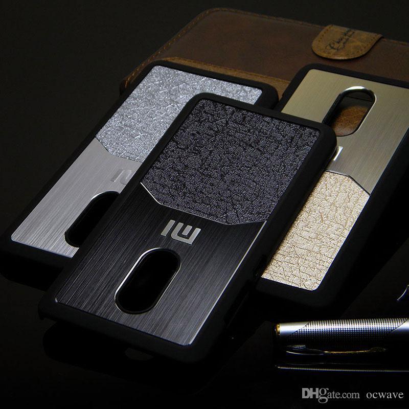 brushed plastic cool luxury brushed metal aluminium case for xiaomi redmi note 4