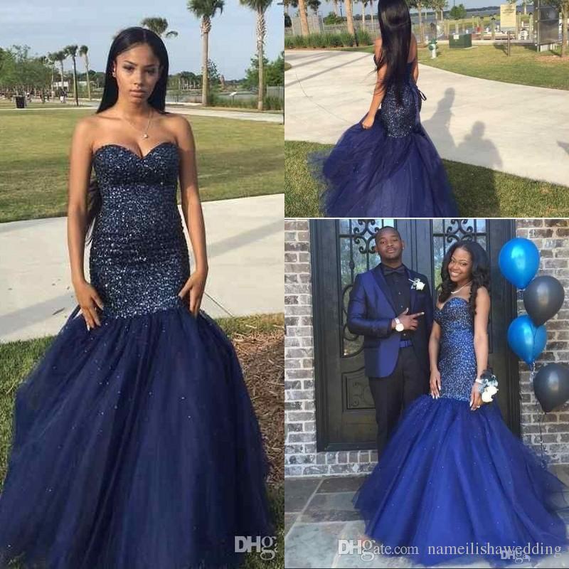 Dark Navy Prom Dresses Uk - Plus Size Dresses