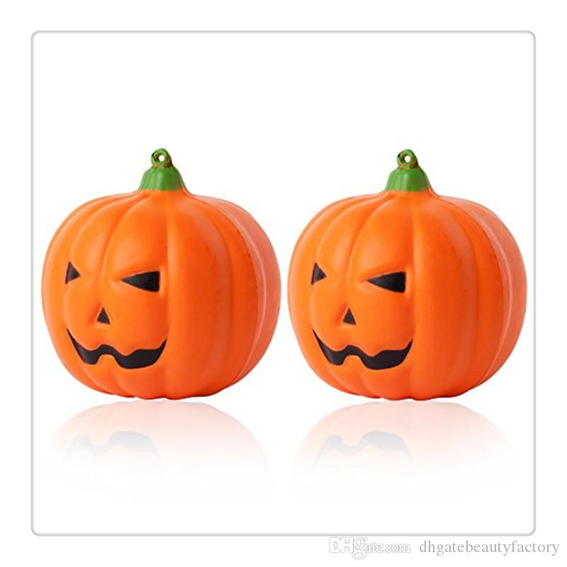 New Arrival Jumbo Squishies Pumpkin Squishy Soft Slow Rising Squishies Scented Halloween Gift Fun Toy Phone Strapes Charms