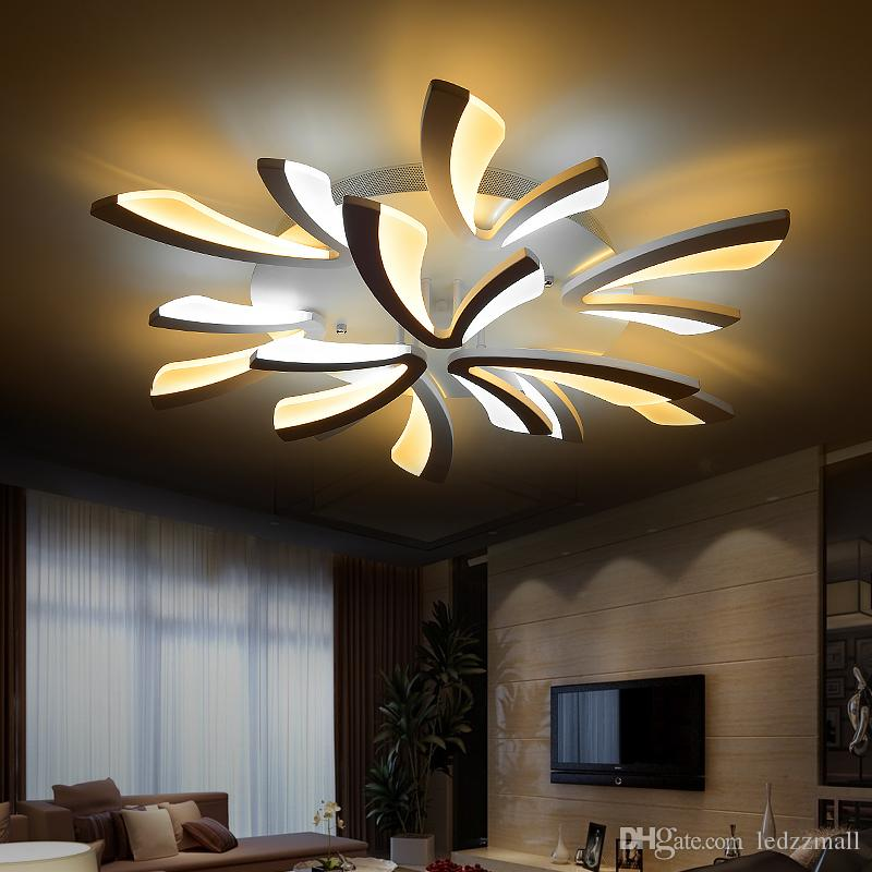 lustre pour plafond bas plafonnier led luminaire de salon lampe suspension lustre mtal cascade. Black Bedroom Furniture Sets. Home Design Ideas