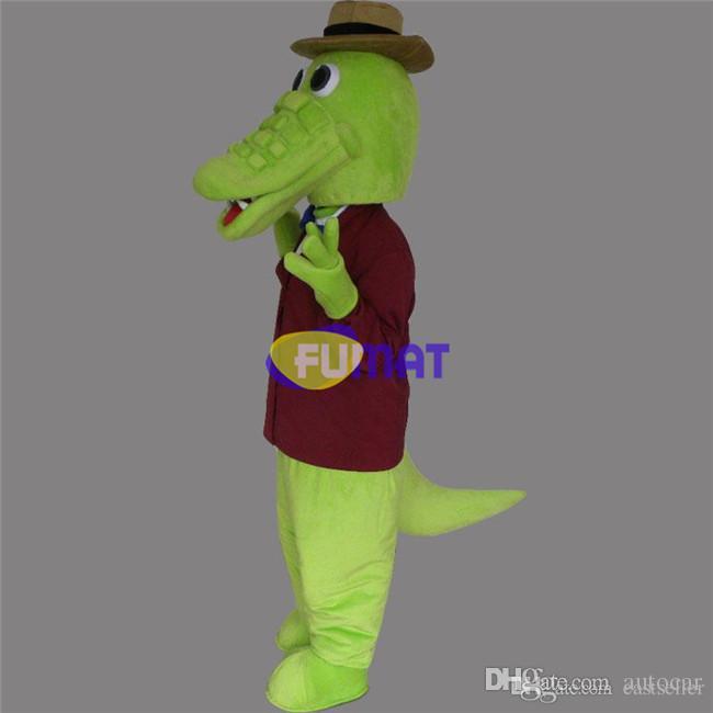 ФУМАТ мультфильм Крокодил костюм талисмана из морских животных Крокодил характер Antimated одежды очаровательная ходьба платье фотографии настройки