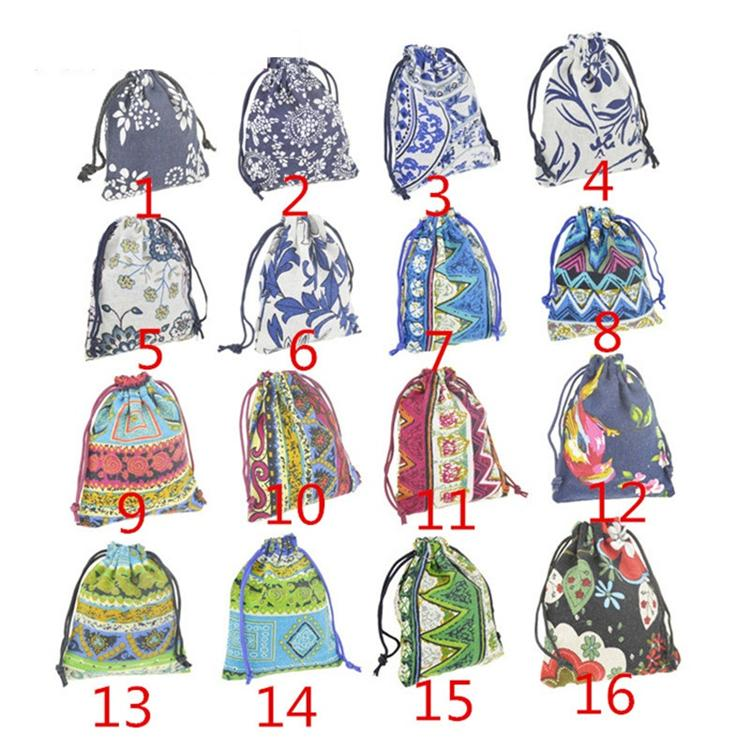 New Fashion multicolors 10*12cm jewely pouches fit for عقد سوار حلق حزمة حقائب القطن T1I204
