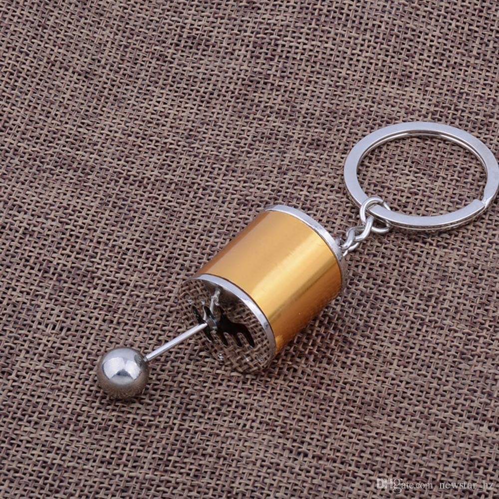 Keychain Portachiavi Creativo Metallo In lega di zinco Pomello del cambio Pomello 6 marce Manuale / Automotive Trasmissione Turbo Portachiavi Chiave Fob
